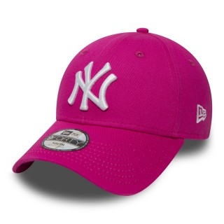 NEW ERA kapa OTR. K940 LEAGUE BASIC NY HPINK/WHITE S/TOD M/CHLD L/YTH